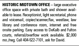 Law office space available in historic Midtown